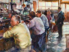 """Dublin Pub, Ireland "" - Originals - All Artwork - Desmond O'Hagan   Fine Art World"