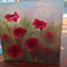 My latest painting of #Poppies
