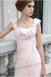tiffany pink spaghetti-strap floor-length silk evening/party dress 80521