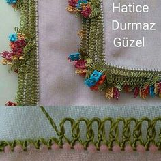 oya [Knotted blanket stitch lace edging]