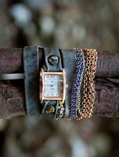 Chain Wrap Watch from La Mer Collections, #johnstonmurphy and #fallstyle