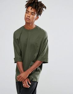 ASOS Super Oversized T-Shirt With Deep Roll Sleeve