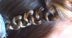 In 5 Seconds, Watch How Mom Turns An Ordinary Braid Into A Beautiful New Hairdo. Cute idea for my little girl!!
