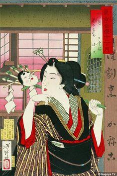 「東京自慢十二ヶ月 十一月酉のまち 日本橋小三」 芳年                                                                                                                                                                                 もっと見る