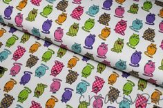Stoff Tiermotive - Stenzo Jersey Stoff - T-Shirt Stoff - Katzen bunt - ein Designerstück von creativ24eu bei DaWanda