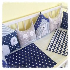 Ideas for kids room rug cribs Baby Cot Bumper, Baby Cribs, Baby Bedding Sets, Baby Pillows, Quilt Baby, Sewing For Kids, Baby Sewing, Baby Barn, Kit Bebe