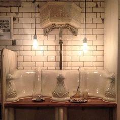 the attendant . London Cafe, Ceiling Lights, Instagram Posts, Home Decor, Public Bathrooms, Cafes, Decoration Home, Room Decor, Outdoor Ceiling Lights