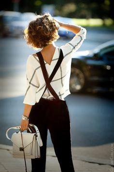 Комбинезон #Zara, блуза #Mango и сумка #LOFFLER_RANDALL Обалденная графичность! Летний лук от Елены Галант.