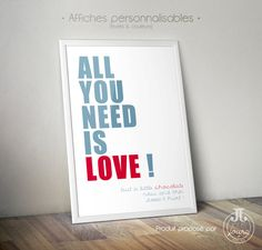 """Affiche """"All you need is love"""""""
