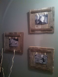 Hey, I found this really awesome Etsy listing at https://www.etsy.com/listing/178090746/3-wooden-pallet-picture-frames-with