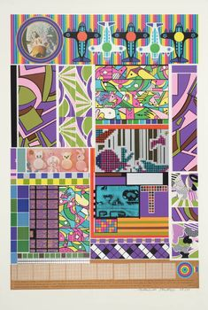 Sir Eduardo Paolozzi, Sun City (from Universal Electronic Vacuum), 1967 Illustrations, Illustration Art, Eduardo Paolozzi, James Rosenquist, Pop Art Collage, Sun City, A Level Art, Sense Of Place, Punk Art