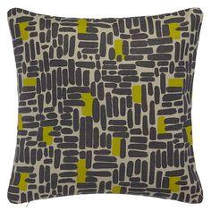 John Lewis bricks cushion in 'steel'