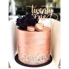 #rosegoldcake • Instagram photos and videos