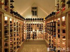Wine cellar in San Francisco mansion.