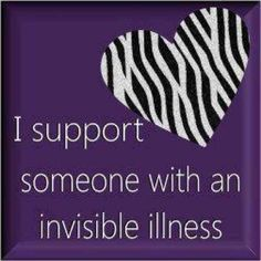 Support someone with an Invisible illness #myositis
