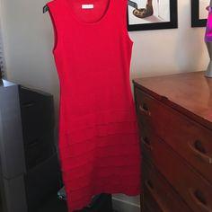 Calvin Klien Red Sweater Dress.
