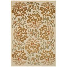 Martha Stewart Living Martha Stewart Floating Dahlia Creme 5 ft. 3 in. x 7 ft. 6 in. Area Rug-MSR4441A-5 - The Home Depot