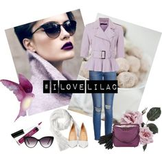 I Love Lilac by miqua on Polyvore featuring Mode, French Connection, Paige Denim, Christian Louboutin, Burberry, Mulberry, Banana Republic and Eloquii Paige Denim, French Connection, Lilac, Banana Republic, Burberry, Christian Louboutin, Shoe Bag, My Love, Polyvore