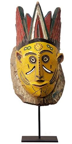 Mask 1 from the the Urhobo Peoples of southern Nigeria, photographed by Tim Hamill. 17.5 x 9.5 x 10.5 in. via Hamill Gallery