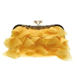 This cute yellow gold clutch bag has a secure fastening and can be hand held, or worn over the shoulder, from the UK Embellished Clutch Bags, Girly Things, Girly Stuff, Vintage Bags, Playing Dress Up, Evening Bags, Purses And Handbags, Coin Purse, Yellow