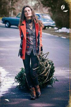 Lumberjack chic.