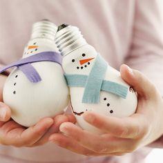 Light Bulb Snowmen