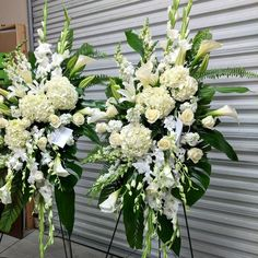 White Standing Spray - Flora Funeral (Flowers Are Happy) Orchid Flower Arrangements, Funeral Floral Arrangements, Church Flower Arrangements, Beautiful Flower Arrangements, Funeral Spray Flowers, Funeral Sprays, Casket Flowers, Cemetery Decorations, Casket Sprays