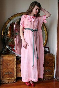 pink linen, love the waist closure