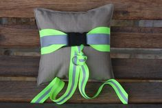 Firefighter wedding ring pillow looks like by FullyInvolvedStch, $29.00