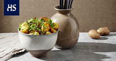 Grillattu inkivääri-perunasalaatti - Reseptit | HS.fi Sushi, Planter Pots, Good Food, Potatoes, Recipes, Cottage, Life, Potato