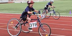 Sayers Grooms practices her speed on her RaceRunner in Copenhagen, Denmark at the Cerebral Palsy International Sports and Recreation Association (CPISRA) Open European Championship & the International Racerunners Camp and Cup. She holds several world records for the U.S. for her age group and disability classification.