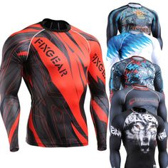 All in ONE / Fixgear Skin Tight Shirt weight lifting compression base layer Running Training Fitness Body Building Top Men S~4XL US $22.99 - 39.99