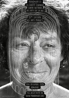 """HELMO (Thomas Couderc & Clement Vauchez), """"pronomade(s) Illustration Design Graphique, Art Graphique, Typography Prints, Graphic Design Typography, Art Public, Artistic Installation, Communication Art, Funky Art, Human Art"""