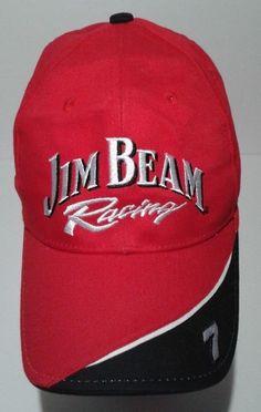 Jim Beam Racing Bobby Gordon NASCAR Adjustable Hat Baseball Cap Red  #Stylemaster #BaseballCap