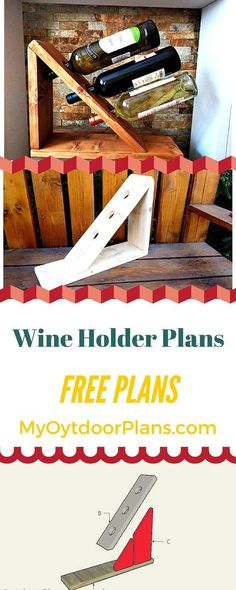 Easy to follow wine holder plans - Learn how to build a wine holder to enhance the look of the table! myoutdooplans.com #diy #wine