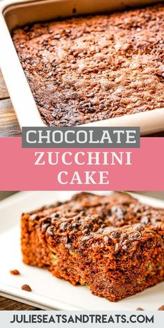 Chocolate Zucchini Cake with Chocolate Chips is a great dessert recipe to use up all your zucchini! This Chocolate Zucchini Cake is dense, tender and loaded with chocolate chips. No worries. You won't even know it has zucchini in it, it just adds moisture! Even with sneaky vegetables it's amazingly rich and decadent. #zucchini #cake Chocolate Hazelnut, Homemade Chocolate, Chocolate Chips, Chocolate Recipes, Great Desserts, Easy Summer Desserts, Dessert Recipes, Zucchini Cake, Healthy Zucchini