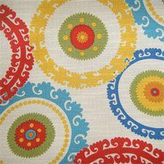 Jedburgh - Sussex Citron Suzani Drapery Fabric by Swavelle - 26947 - www.buyfabrics.com