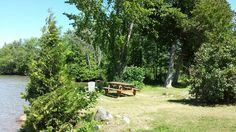 Green Bay, Lake Manitou Manitoulin Island, Water Island, Bay Lake, Outdoor Furniture Sets, Outdoor Decor, Green Bay, Cabins, Fresh Water, Ontario