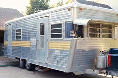 Vintage Camper turned Glamper - DIY Renovation - The Noshery