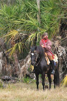 Swamp Owl, Seminole Reenactor -  Big Cypress Shootout, Seminole War Reenactment, Big Cypress Seminole Reservation, FL by James Keith