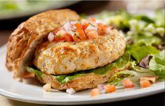 awesome 3 Ingredient Salsa Turkey Burgers - 2 smartPoints