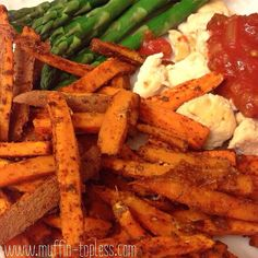 Healthy & Spicy Sweet Potato Fries #muffintopless