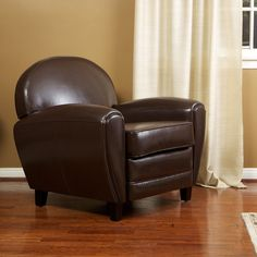 Hayley Chocolate Brown Leather Club Chair