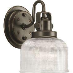 Archie Venetian Bronze. Industrial Lighting. Bath sconce and vanity lighting.