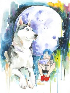 Eating the Moon - Fine Art Print by Lora Zombie Prints starting at $49.99 http://www.eyesonwalls.com/products/eating-the-moon