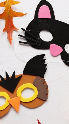 Easy DIY Animal Masks From Craft Foam