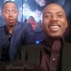 Me & Lil Bro Terrence J clowning on set of #TLAMTOO. Luv this dude!