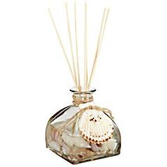 Seashell Sea Air Reed Diffuser $19.95 Enjoy a coastal breeze even when you're far inland. Our reed diffuser combines jasmine, gardenia, melon and white lilac fragrances, all in one pretty design accented with decorative shells inside and out. Perfect for refreshing small rooms and entryways. And beach cottages.