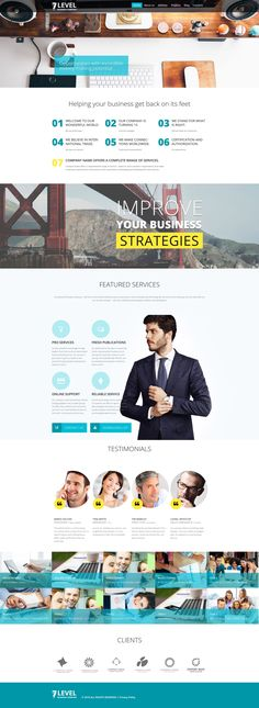 WordPress Template , 7 Level