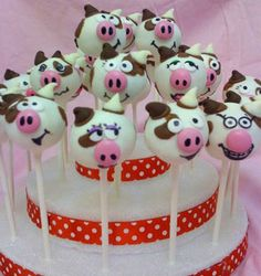Cow CakePops